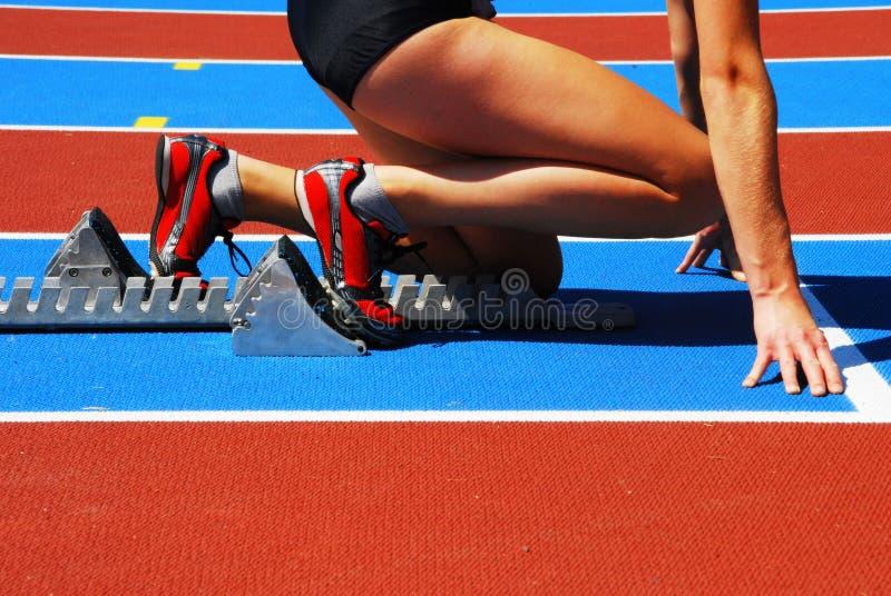 женский бегунок стоковое изображение