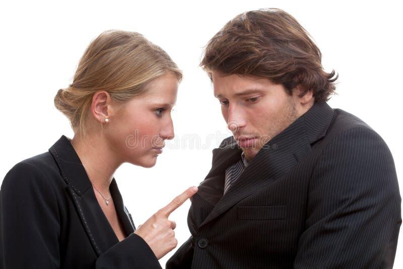 Женский босс угрожая стоковое изображение rf