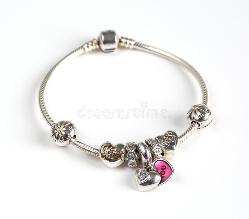 Женский браслет, ювелирные изделия стоковые фото
