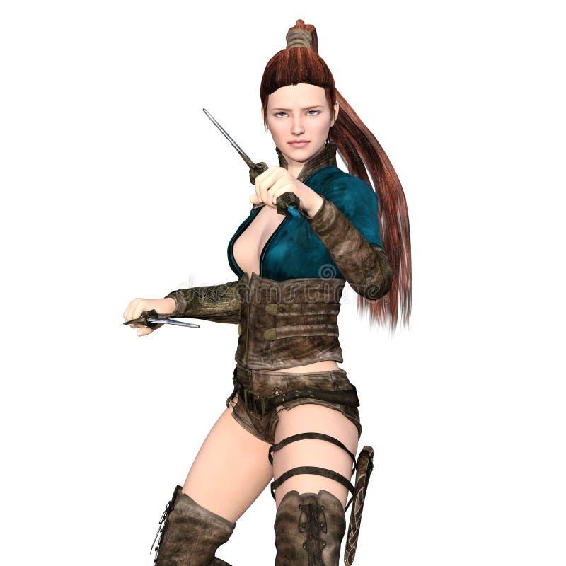 Женский воин иллюстрация вектора