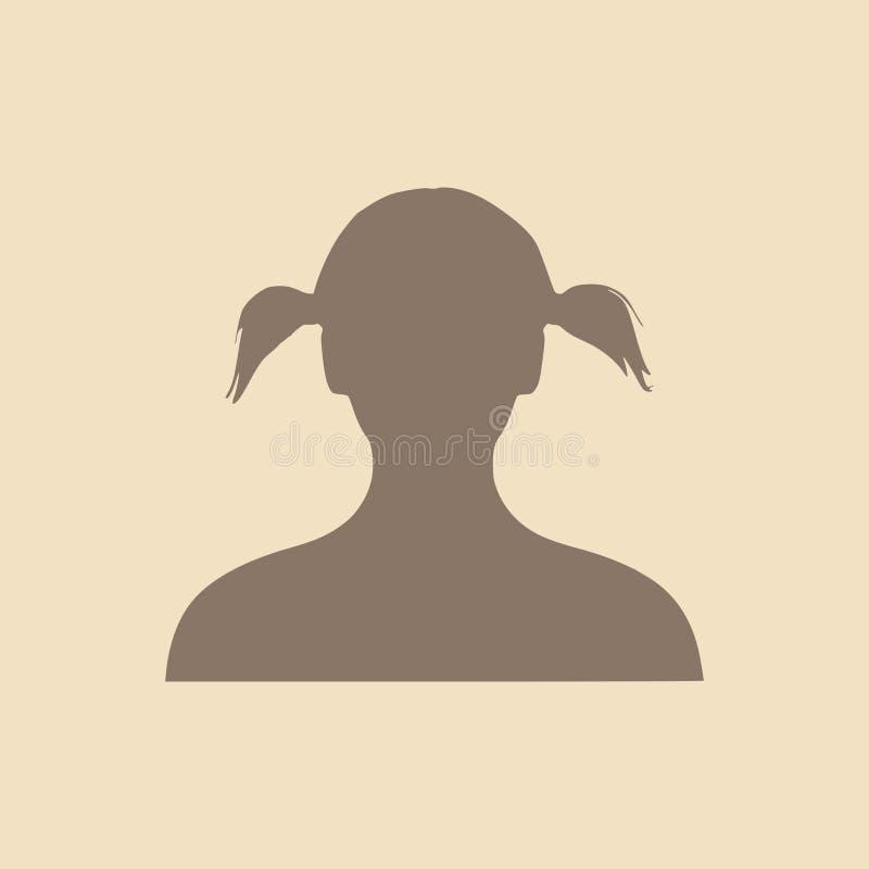 женский головной силуэт Взгляд лобового профиля бесплатная иллюстрация