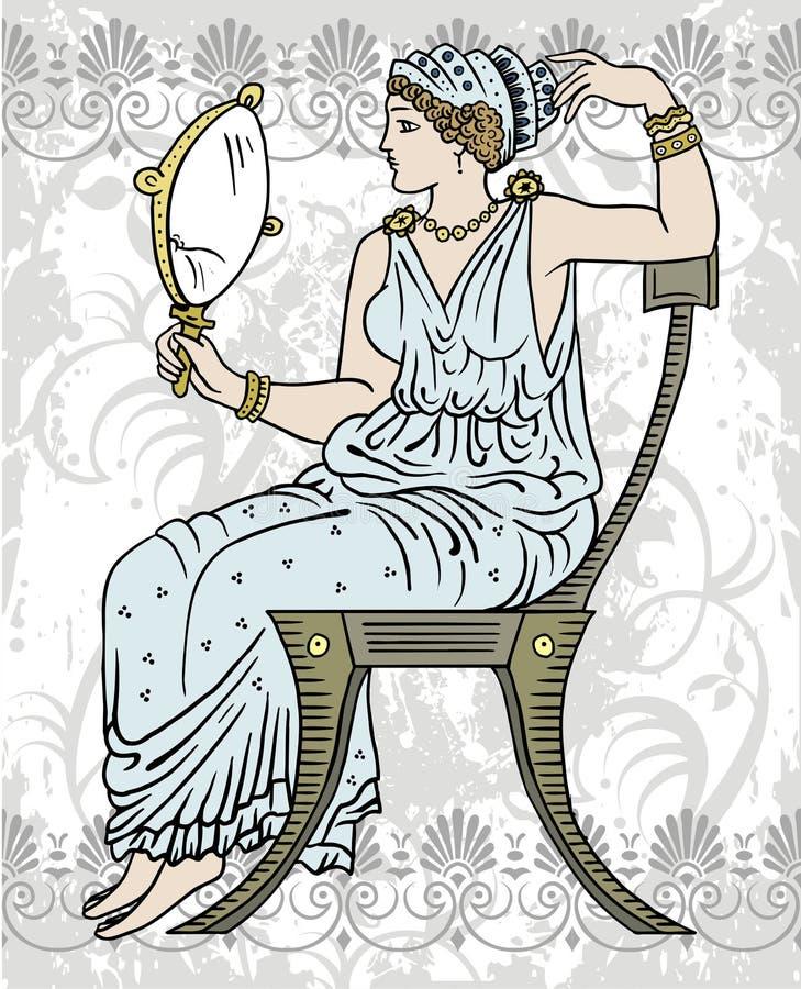 женский грек иллюстрация штока