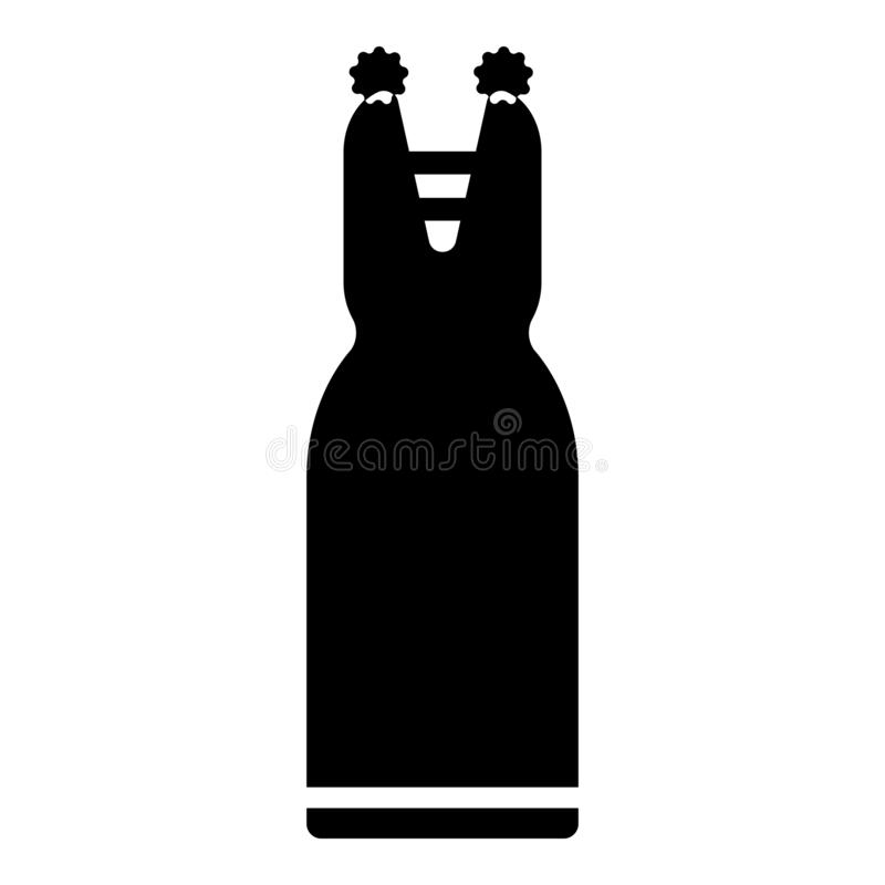 Женский знак и символ вектора значка силуэта платья изолированные на белой предпосылке, женской концепции логотипа силуэта платья бесплатная иллюстрация