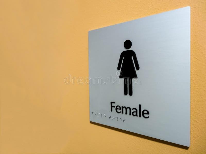 Женский знак туалета стоковое изображение