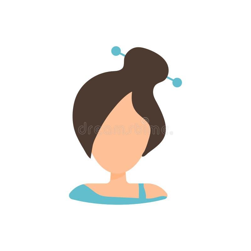 Женский значок изображения профиля воплощения потребителя Изолированная иллюстрация вектора в плоском характере людей дизайна Жен бесплатная иллюстрация