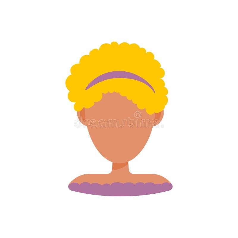 Женский значок изображения профиля воплощения потребителя Изолированная иллюстрация вектора в плоском характере людей дизайна Бел иллюстрация штока