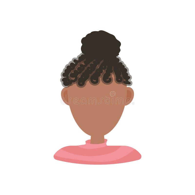 Женский значок изображения профиля воплощения потребителя Изолированная иллюстрация вектора в плоском характере людей дизайна на  бесплатная иллюстрация