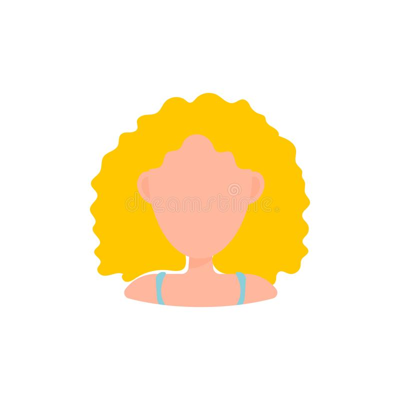 Женский значок изображения профиля воплощения потребителя Изолированная иллюстрация вектора в плоском характере людей дизайна Бел бесплатная иллюстрация