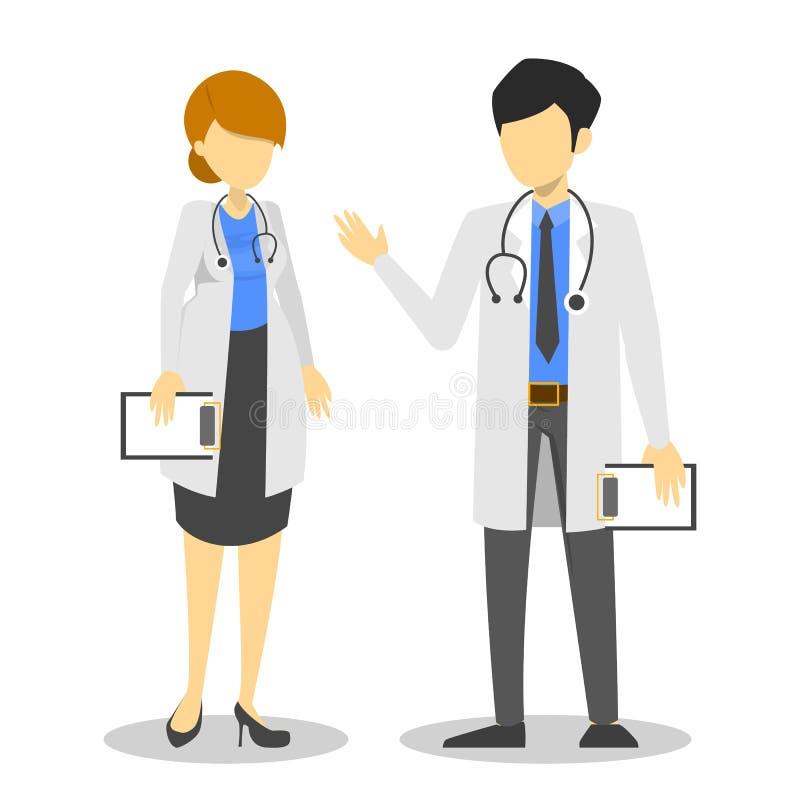 Женский и мужской доктор Занятие сотрудника военно-медицинской службы, специалист бесплатная иллюстрация