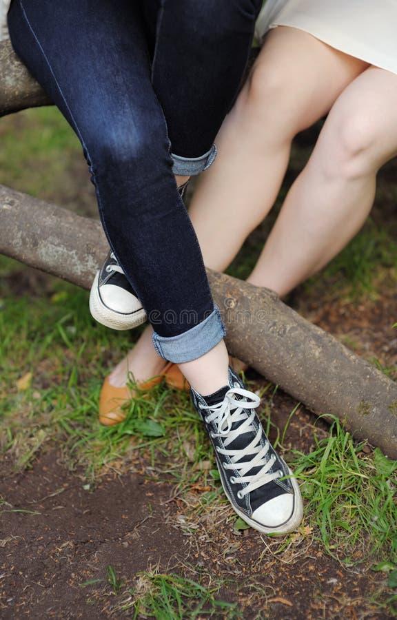 Женский крупный план ног стоковая фотография rf