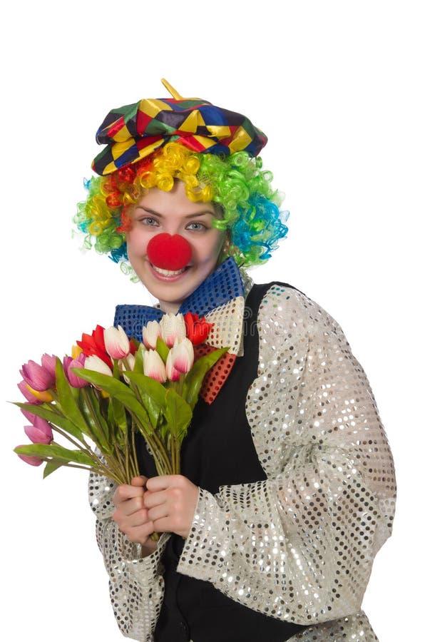 Женский клоун стоковые фотографии rf