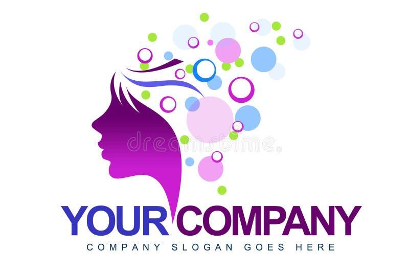 Женский логос стороны бесплатная иллюстрация