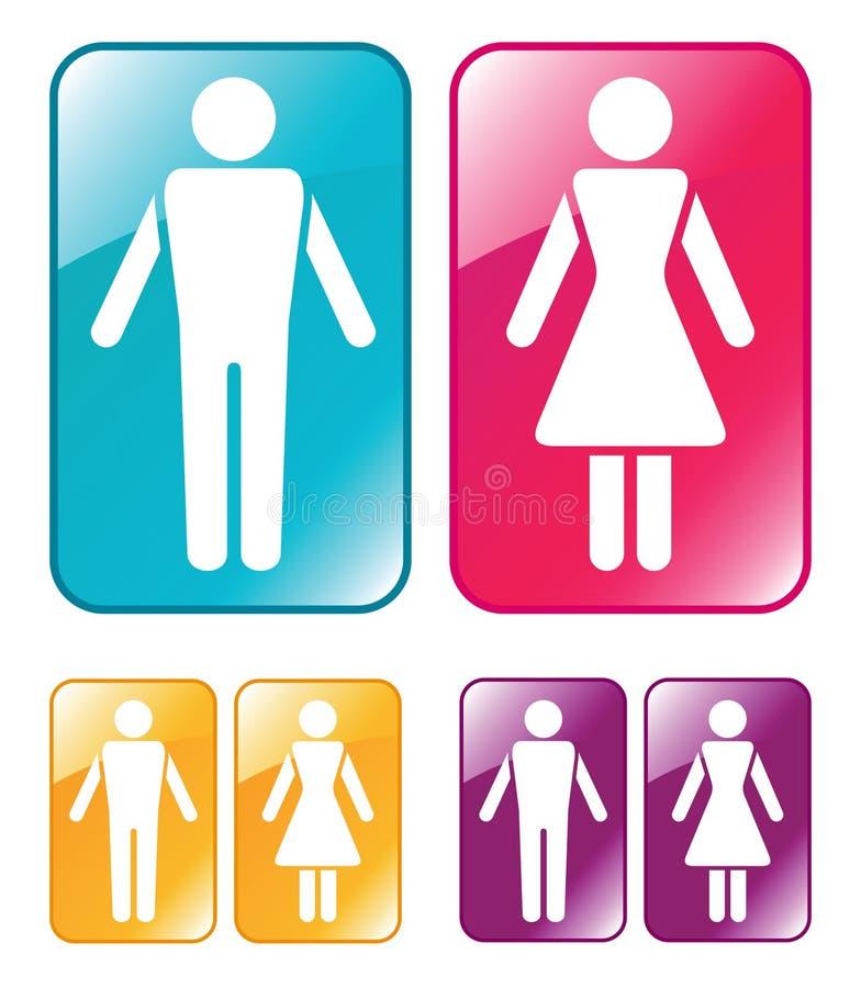 женский мыжской wc знака иллюстрация штока