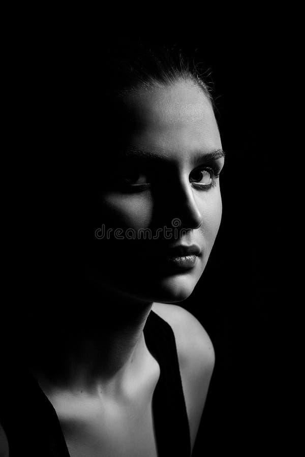 Женский портрет красотки стоковая фотография rf