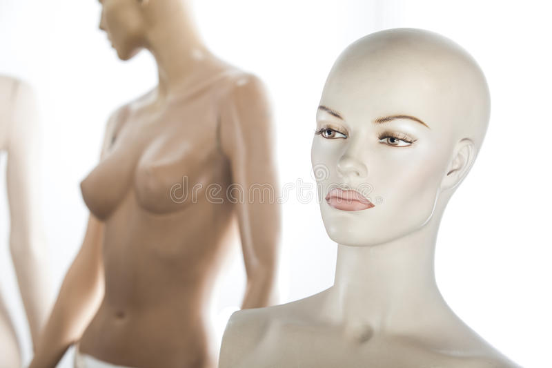 Женский портрет кукол стоковая фотография