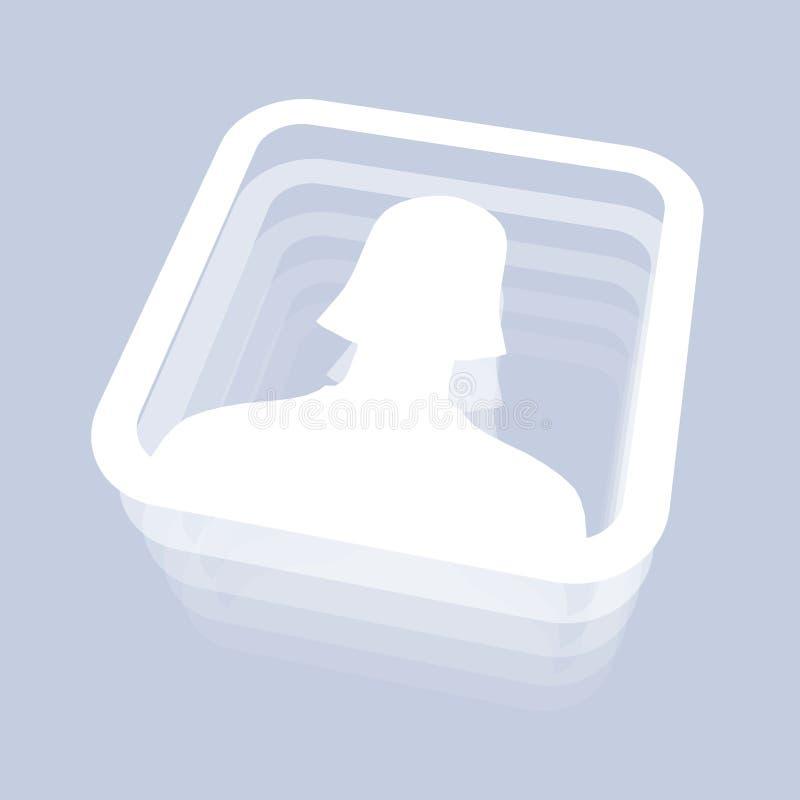женский потребитель иконы иллюстрация штока
