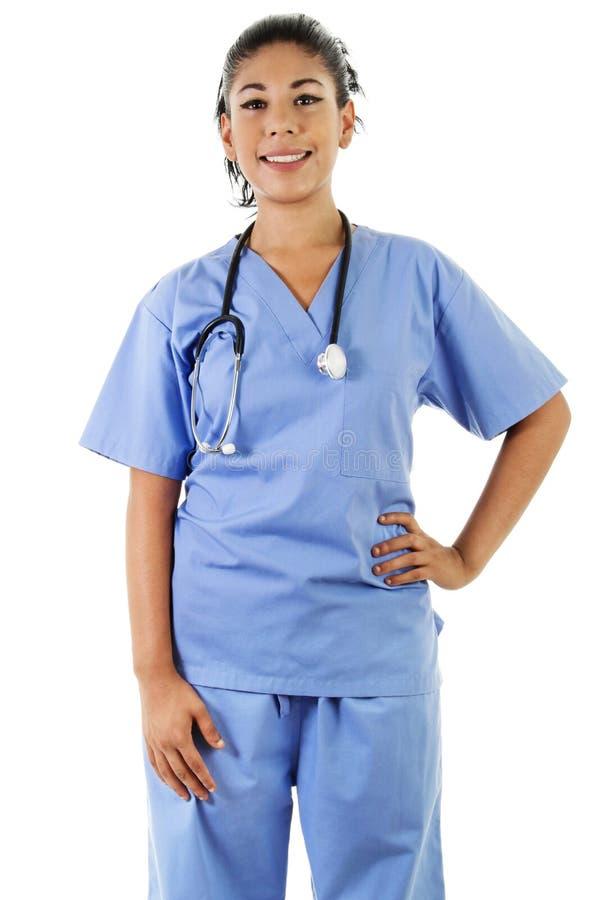 Женский работник здравоохранения стоковое изображение rf