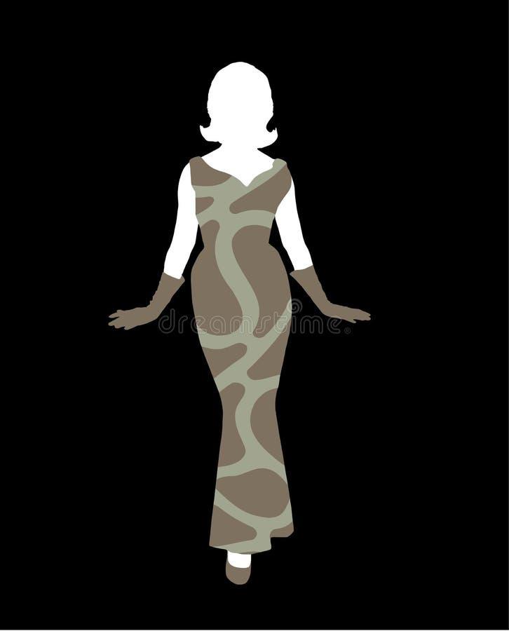 Download женский силуэт иллюстрация вектора. иллюстрации насчитывающей партия - 1187312