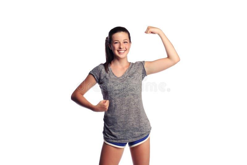 женский сильный подросток стоковое изображение rf
