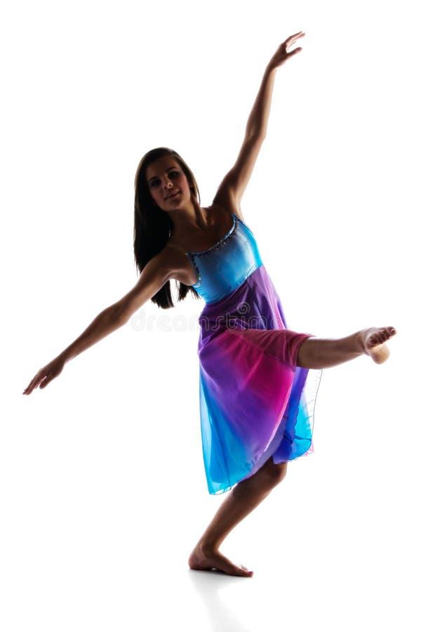 Женский современный танцор стоковые изображения rf