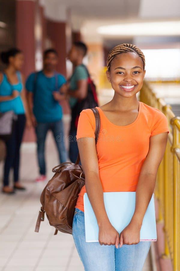 Женский студент колледжа стоковое изображение