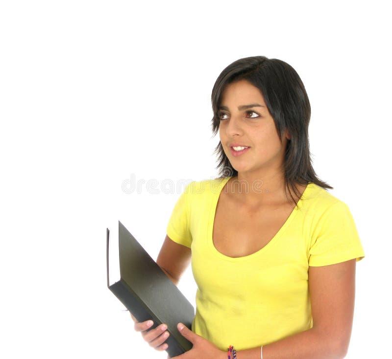 женский счастливый студент стоковые фотографии rf
