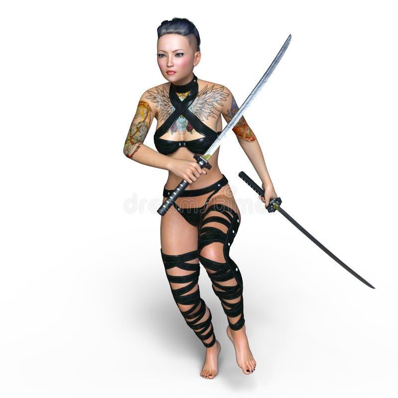 Женский фехтовальщик стоковые изображения rf
