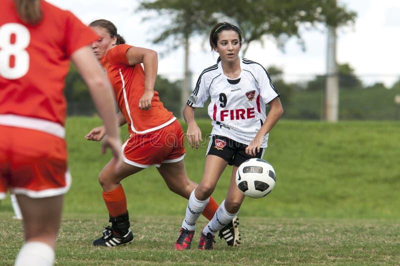 женский футбол игрока стоковые фотографии rf