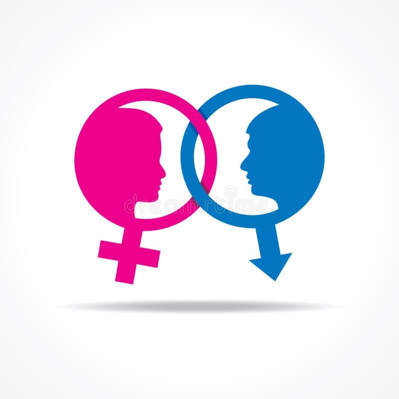 женский флористический символ мужчины иллюстрации иллюстрация штока