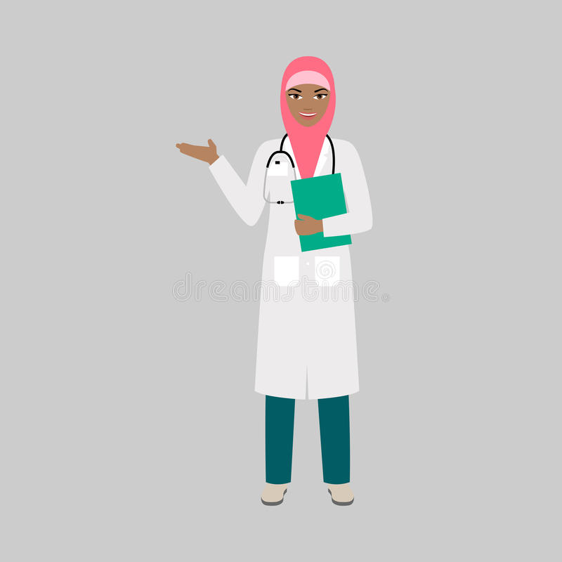 Женский характер orthopaedist иллюстрация штока