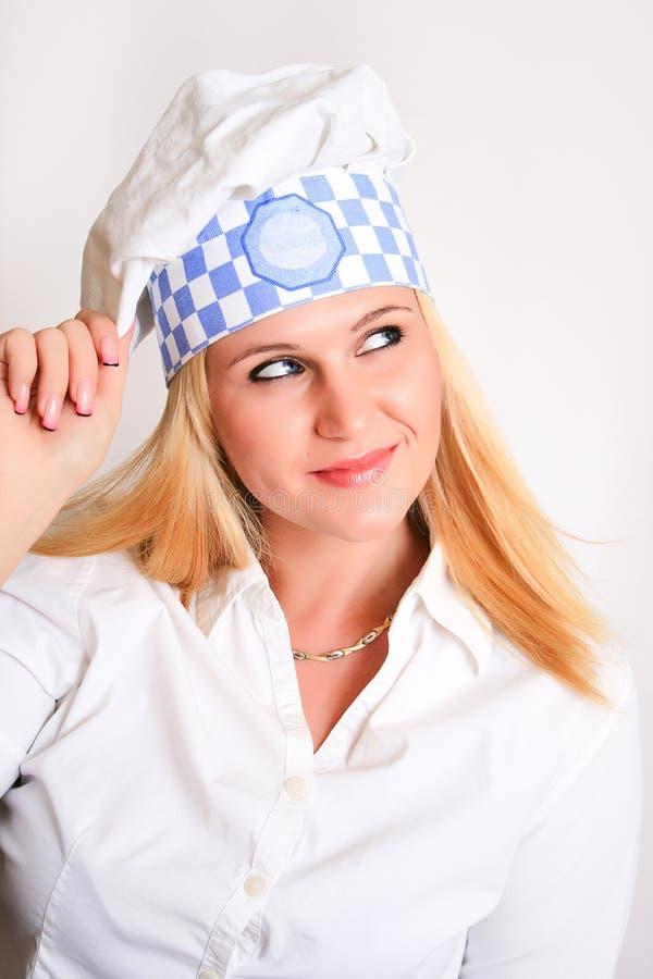 Женский шеф-повар стоковые фото