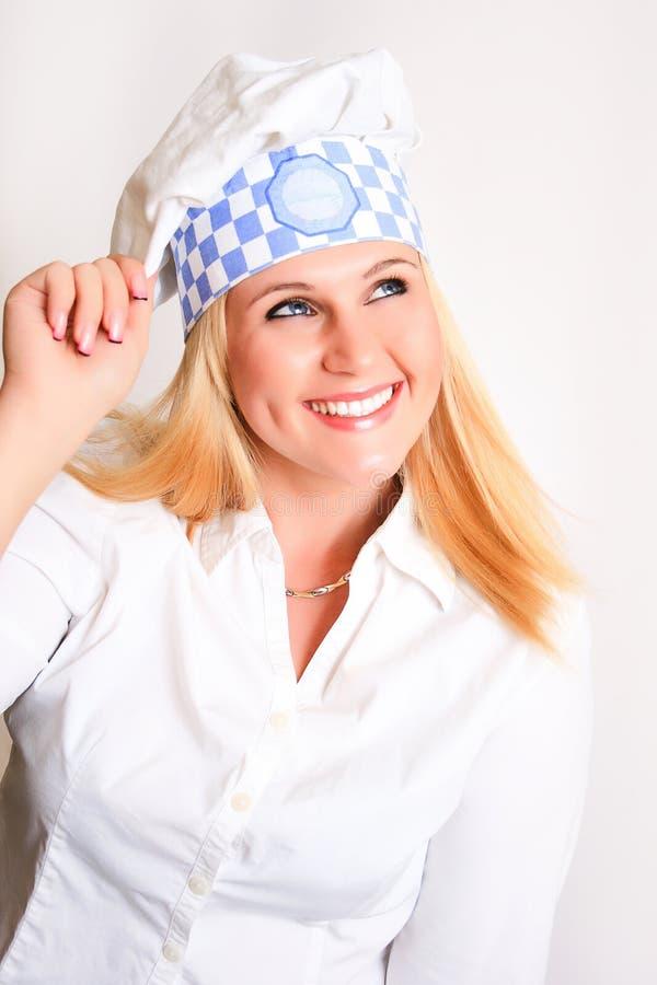 Женский шеф-повар стоковые изображения