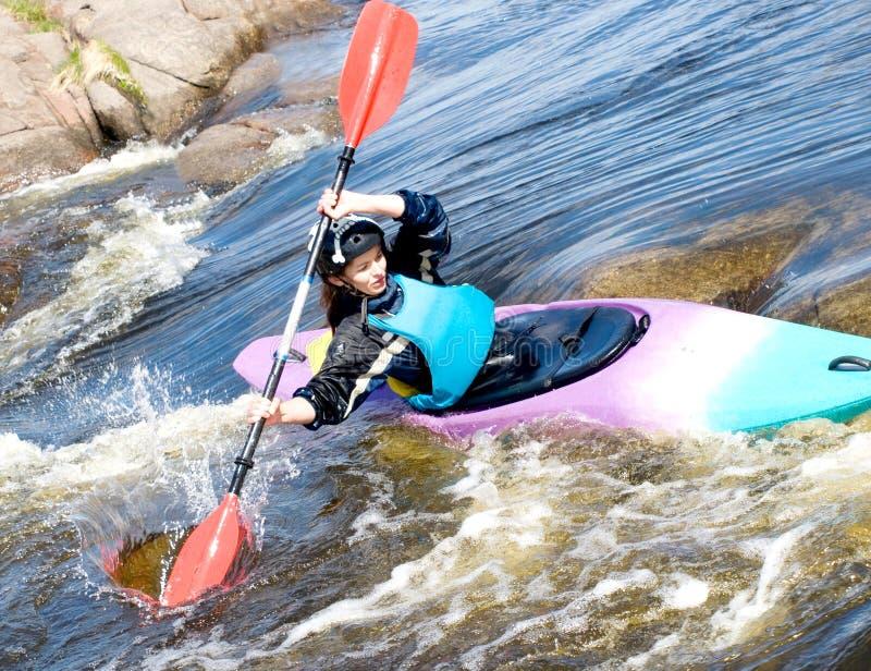 женский kayaker стоковые фото