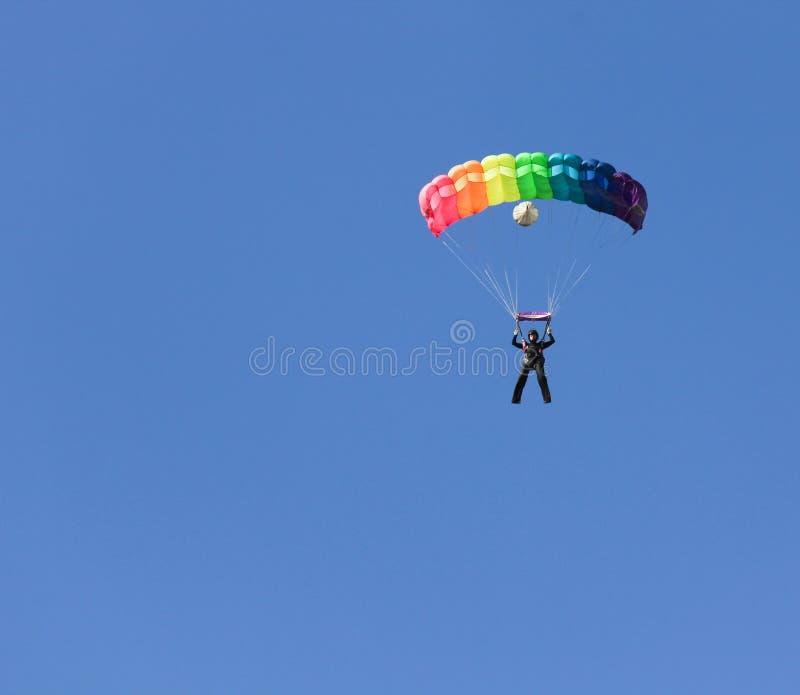 женский skydiver стоковые изображения rf