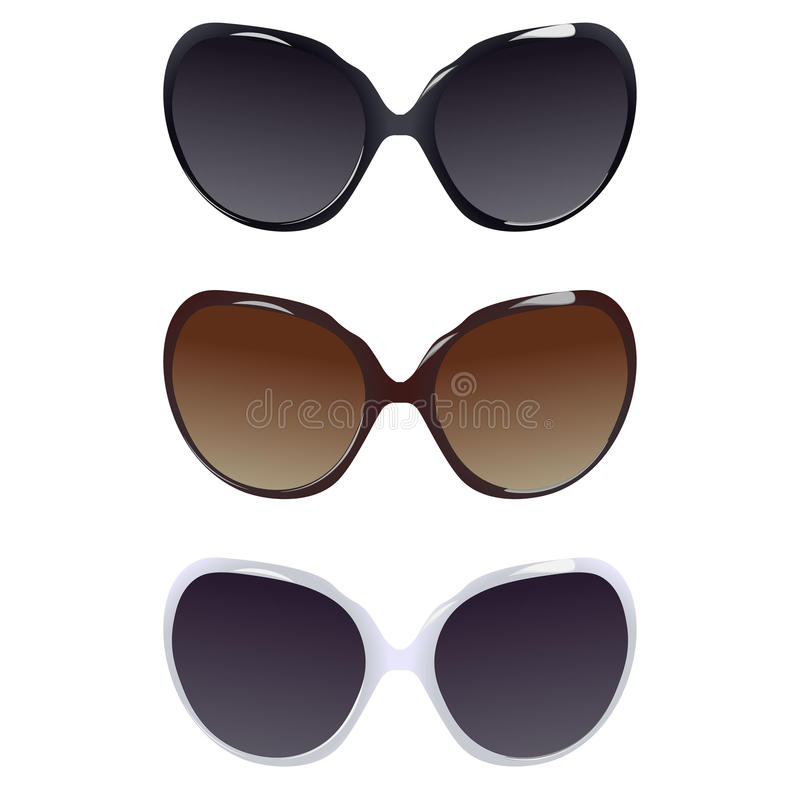 3 женских пары солнечных очков стоковые фотографии rf