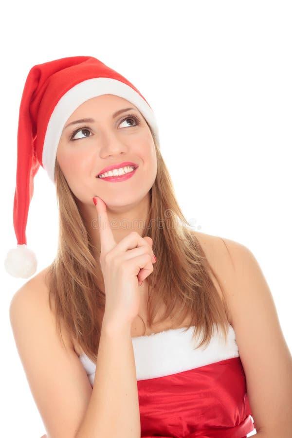 Женское Санта стоковые изображения