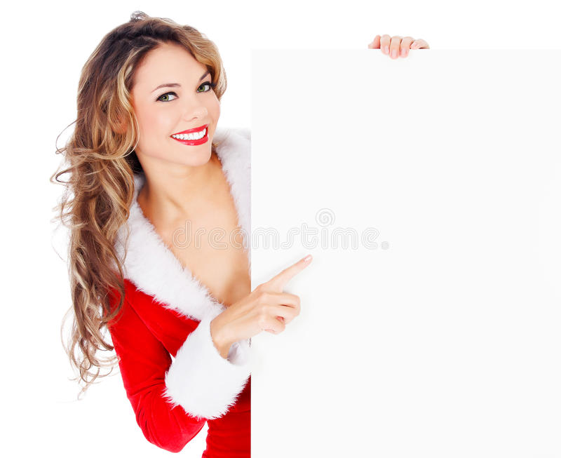 Женское Санта стоковое фото