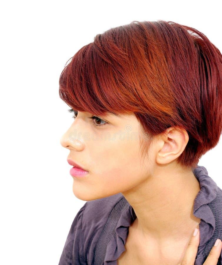 Женственная модель стиля парикмахерской стоковое изображение