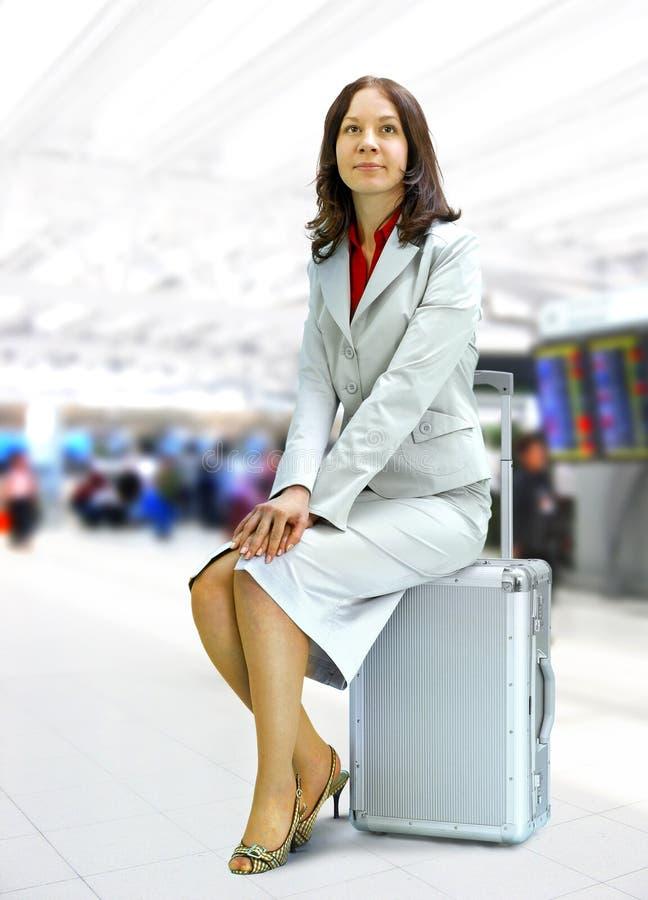 женщина авиапорта стоковое изображение