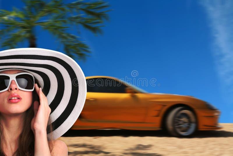 женщина автомобиля стоковые изображения