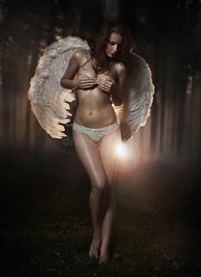 женщина ангела Стоковое фото RF