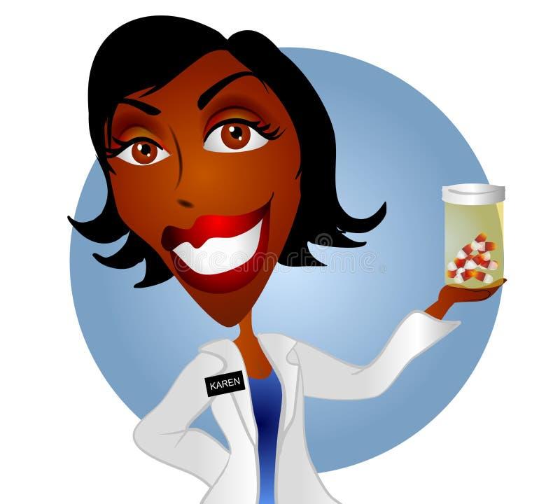 женщина аптекаря 2 докторов бесплатная иллюстрация