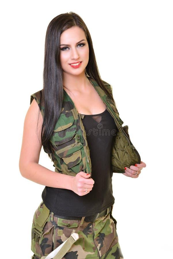 женщина армии красивейшая стоковое фото rf