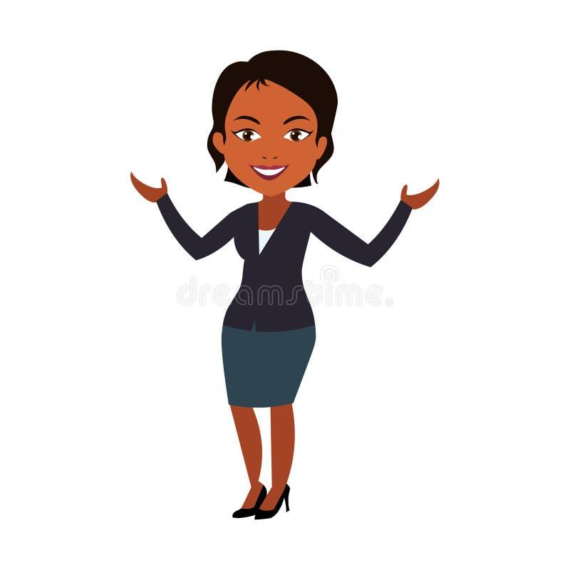 женщина афроамериканца Молодой вектор бизнес-леди бесплатная иллюстрация