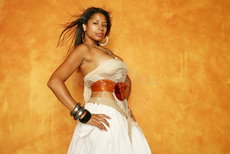женщина афроамериканца шикарная стоковое изображение rf