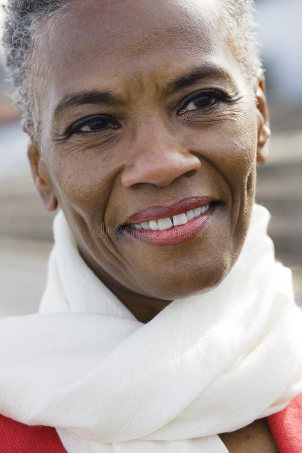 женщина афроамериканца стоковое фото rf