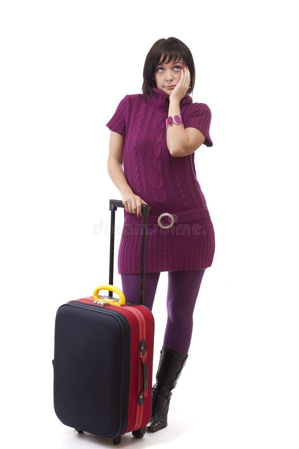 женщина багажа стоковые изображения rf
