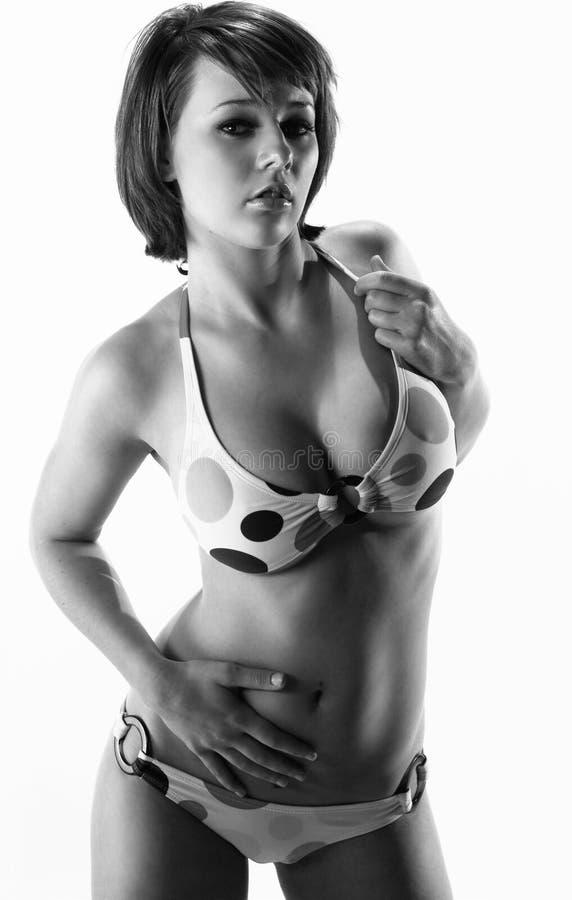 женщина бикини сексуальная стоковое фото