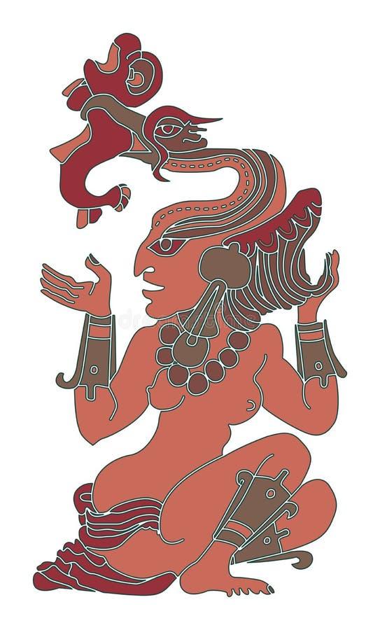 Женщина - богина вод иллюстрация вектора