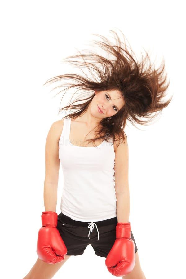 женщина бокса стоковая фотография